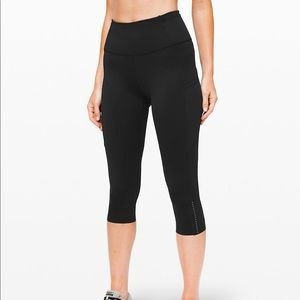 Lululemon fast and free crop worn once